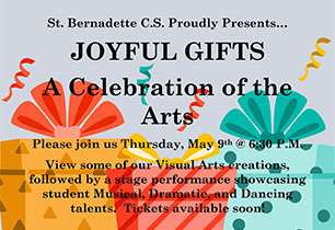 poster promoting Joyful Gifts a Celebration of the Arts